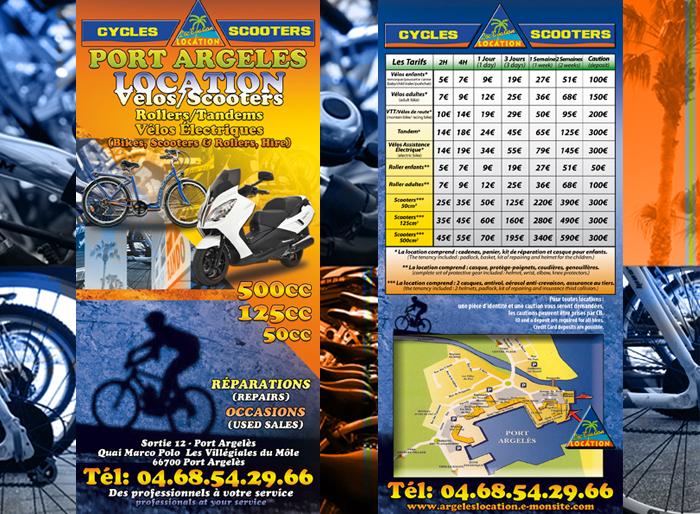 Location vélos scooters Argelès sur Mer